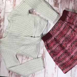 Gymboree Crop Tied Sweater with Oshkosh Skirt